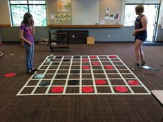 """checkers game board on wall with sign that says """"are you checking God's word daily? Library Activities, Youth Activities, Activity Games, Fun Games, Library Games, Team Games, Games Today, Camping Activities, Party Games"""