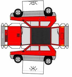 papercraft | Fiat Panda of Gros_Moutin « The TS1BAT of Rennes