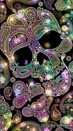 Find images and videos about cute, grunge and wallpaper on We Heart It - the app to get lost in what you love. Sugar Skull Wallpaper, Sugar Skull Artwork, Glitter Wallpaper, Calaveras Mexicanas Tattoo, Candy Skulls, Sugar Skulls, Skull Pictures, Day Of The Dead Skull, Glitter Background