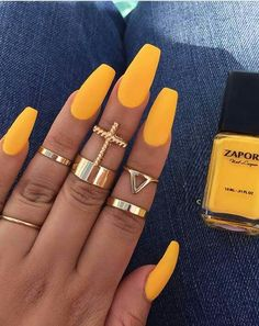 TOP 25 Ideas Sunny Yellow Nail Design for Your Inspiration - Summer 2018