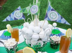golf birthday party centerpieces - Golf Themed Party Perfect Ideas – Home Party Theme Ideas