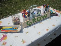 CUTE seed planting party. Lots of good plant-related activity ideas here too.
