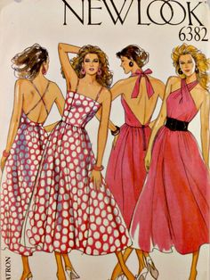 Halter or Sundress with Full Skirt and by VintageNeedleFinds, $12.00