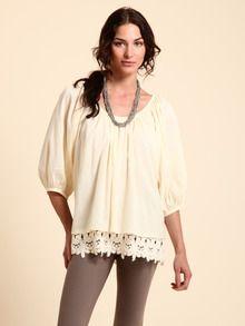 Love Sam, cotton lace trim #blouse