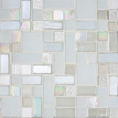 The hallmark of Susan Jablon is creating unique glass mosaic tile design and blends. Design your very own glass tile blends with our Custom Mosaic Designer. Ice Candy, Glass Candy, Glass Tile Backsplash, Glass Mosaic Tiles, Kitchen Backsplash, White Glass Tile, Mosaic Tile Designs, Custom Glass, Bath Remodel