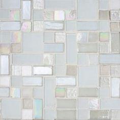Backsplash tile - Ice Candy Glass Tile Mosaic Blend Design ($27 per sq. ft.)