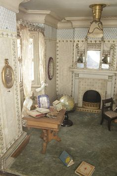 dollhouse miniature parlor