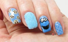 Cookie Monster Nails for Blue Friday #17