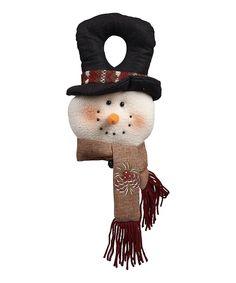 Snowman Door Hanger #zulily #Christmas #Decor #Holiday