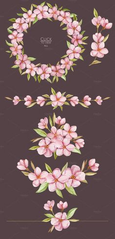 Blossoms. Spring watercolor set by NataliVA on @creativemarket