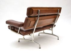 Eames Teak and Leather Sofa by Herman Miller Deco Furniture, Table Furniture, Modern Furniture, Furniture Design, Eames Furniture, Furniture Stores, Furniture Market, Plywood Furniture, Cheap Furniture