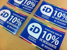 Si tenés tu cédula ID y ves este calco en algún comercio, entrá que tenés descuento! Impreso en Limatina :)
