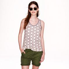 J.Crew - Crocheted lace tank
