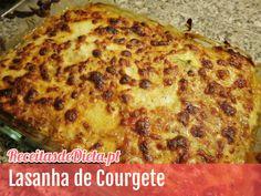 Receita de Lasanha de Courgete #receita #light #dieta #fitness