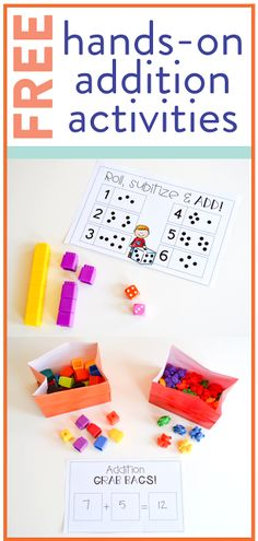 I am always on the lookout for new, FREE, addition activities! Head over to the post to grab yourself a free 15-page addition unit that focuses on hands-on activities for young learners!