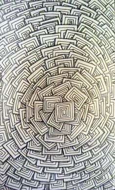 Squares Squared #zentangle #zia #doodle #drawing #inkdrawing #tangle #art #abstract