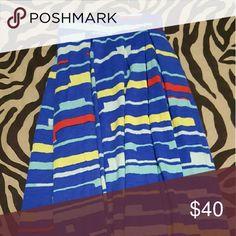BNWOT Madison Skirt by Lularoe Yellow, blue, white and red LuLaRoe Skirts