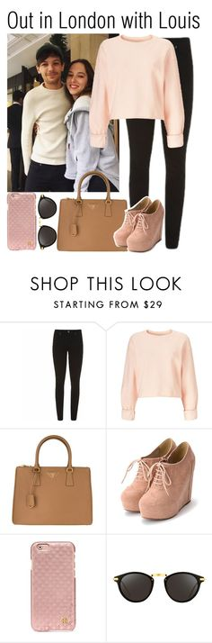 """Out in London with Louis (boyfriend)"" by babedirectionerx ❤ liked on Polyvore featuring Paige Denim, Miss Selfridge, Prada, Tory Burch, Linda Farrow and louistomlinson"