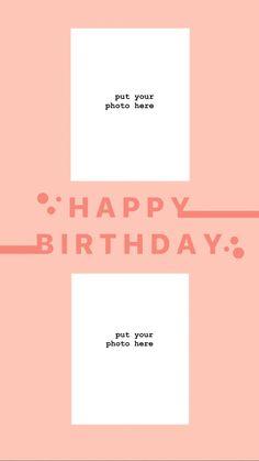 Happy Birthday, Templates, Wallpaper, Frame, Inspiration, Instagram, Ideas, Happy Aniversary, Models