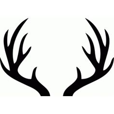 black silhouette of deer antlers use these free images for your rh pinterest com