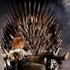 Bowie on the iron throne