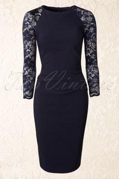 Vintage Chic Navy Lace Dress 100 31 14254 20141009 0004W