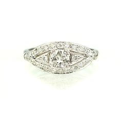 New York, NY Jewelry, engagement rings - Leigh Jay Nacht - Replica 1920s Engagement Ring - 2302-01