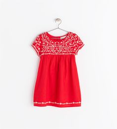 switching things up this year. why not a red embroidered Easter dress? easter dress for little girls