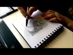 Psycho Lines Doodle Art Tutorial HD [No sound required.] - YouTube