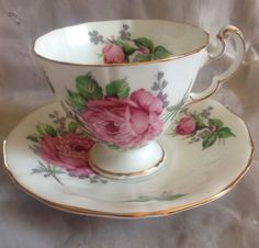 """""""YES YES YES"""" <3 Adderley Fine Bone China Tea Cup & Saucer England Very Pretty Must See #Adderley"""