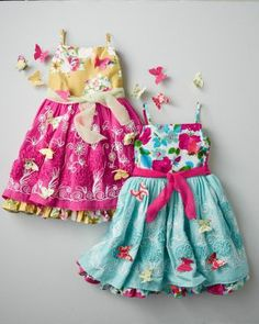 Butterfly Fantasia Dress by Moxie & Mabel - Baby Girls & Girls The one with the pink overskirt . . .