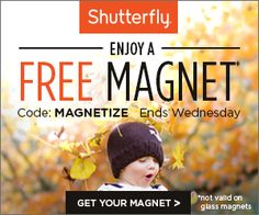 SHUTTERFLY $$ FREE Magnet (Just Pay Shipping/Handling)!