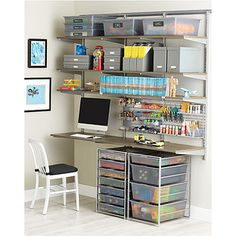 The Container Store > Driftwood & Platinum elfa Activity Space