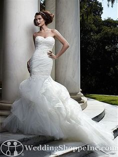 Casablanca Bridal Gown 2066 - Visit Wedding Shoppe Inc. for designer bridal gowns, bridesmaid dresses, and much more at http://www.weddingshoppeinc.com