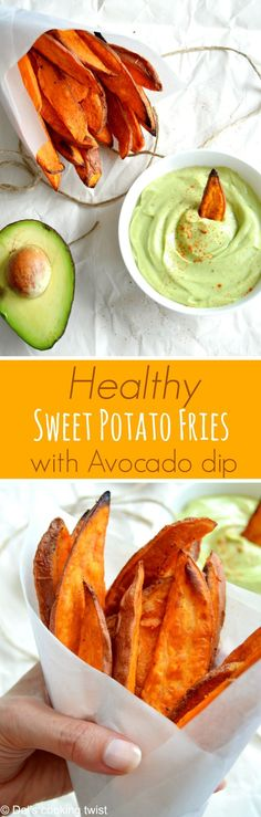 Crispy on the outside and soft on the inside, these sweet potato fries make a perfect healthy snack!