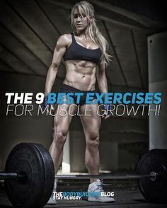 Check out these 9 Best Exercises for Muscle Growth that will guarantee that you grow bigger and stronger. The exercises are selected based on the idea that they help increase testosterone production, the help increase overall power, boost symmetric muscle growth and will thus allow you to develop a proportional aesthetic physique. These exercises are a must, check them out!