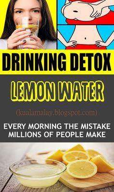 Drinking Detox Lemon Water Every Morning – The Mistake Millions of People Make health - Healthy Detox, Healthy Drinks, Diet Detox, Cleanse Detox, Juice Cleanse, Healthy Life, Healthy Living, Detox Shampoo, Full Body Detox