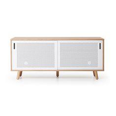 Ray Sideboard 150 cm, Hvit - Ray er serien med moderne møbler som passer for alle. Her kan du finne sofabord, spisebord, mediabenker, sidebord, skrivebord, nattbord og skap. Designen er enkel, stilig og laget av naturlige materialer og farger. - Department - RoyalDesign.no