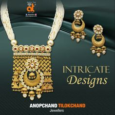 Intricacy so mesmerising, you can't resist buying. Gold Jewellery collection from the house of Anopchand Tilokchand Jewellers . We are available @ Raipur , Bhopal , Durg , Gondia , Bilaspur , Korba.  #ATJewellers #AnopchandTilokchandJewellers #SymbolOfTrust Gold Bangles Design, Gold Jewellery Design, Gold Jewelry, Jewelry Necklaces, Kerala Jewellery, India Jewelry, Gold Pendant, Pendant Necklace, Rajputi Jewellery
