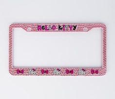 Hello Kitty License Plate Frame: Rhinestones