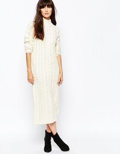 Vero Moda | Vero Moda Cable Knitted Sweater Dress at ASOS