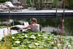 summer holidays Ellicar Gardens natural swimming pool Swimming Ponds, Natural Pools, Family Garden, Wildlife, Gardens, Holidays, Pets, Nature, Summer