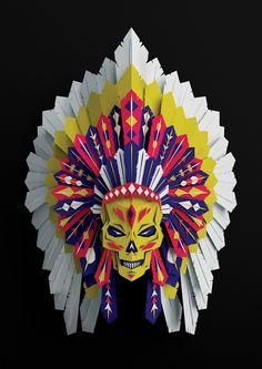 Native American Headdress by Vault49, via Behance