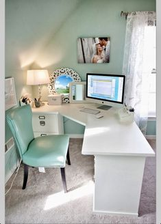 Awesome new place to do homework? I think not how about watch t.v on your computer all day in that comfy chair! :)