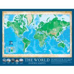 Semester at Sea map! Ahhh! I need this.