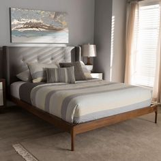 Ellerman Tufted Platform Bed | Platform Beds  #decor #homedecor #bedroom #furniture #platformbeds #mattressnut King Beds, Queen Beds, Bedroom Furniture, Bedroom Decor, Master Bedroom, Bedroom Ideas, Dream Bedroom, Modern Bedroom, Master Suite
