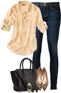 Love how simple and versatile this outfit is/can be. Casual, yet put together. An easy look to put together--Love!