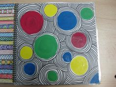 grade shape art drawing paper circles out of construction paper sharpie warm cool color Elements And Principles, Elements Of Art, Art Sub Lessons, Drawing Lessons, 5th Grade Art, Fourth Grade, Ecole Art, Circle Art, Shape Art