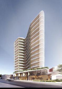 Building Design Plan, Residential Building Design, Mix Use Building, Building Exterior, Hotel Architecture, Futuristic Architecture, Amazing Architecture, Architecture Design, Architecture Portfolio
