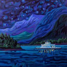 Past Work — Greta Grunow Guzek Canadian Painters, Canadian Artists, Crow Totem, Sound Art, Native Art, Stone Painting, Landscape Art, Impressionism, Art Images
